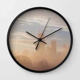 Chicago December Sunrise Wall Clock
