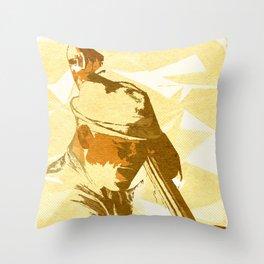 Jazz Contrabassist Poster Throw Pillow