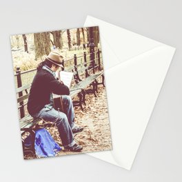 Central park music Stationery Cards