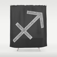 sagittarius Shower Curtains featuring Sagittarius by David Zydd