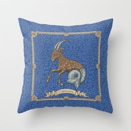 Vintage Astrology - Capricorn Throw Pillow
