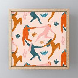 Nymphs pattern Framed Mini Art Print