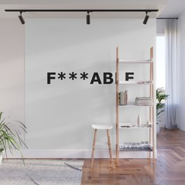F***able Black Wall Mural