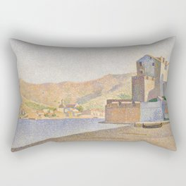 The Town Beach, Collioure, opus 165 Rectangular Pillow