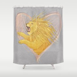 Lionheart Shower Curtain
