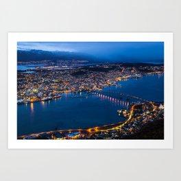 Panoramic Tromso Art Print