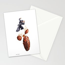 Fritter Jitsu the Deadly Art of Throwing Fruity Pastries Stationery Cards
