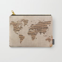 music world map Carry-All Pouch