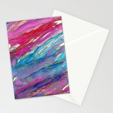 AGATE MAGIC PinkAqua Red Lavender, Marble Geode Natural Stone Inspired Watercolor Abstract Painting Stationery Cards