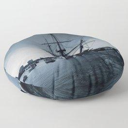 Ship The Warrior HMS 1860 Floor Pillow