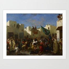 "Eugène Delacroix ""The Fanatics of Tangier"" Art Print"