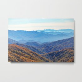 Smoky Mountain Layers Metal Print