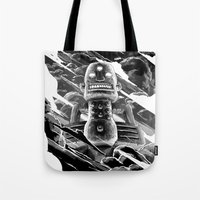 totem Tote Bags featuring Totem by A P Schofield fine arts