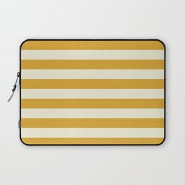 Yellow Mustard Stripe Line Bold Stripes Lines Laptop Sleeve