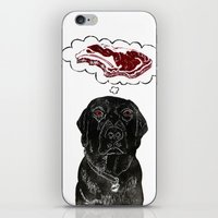 marley iPhone & iPod Skins featuring Marley Dreams of Meat by minouette