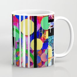 Abstract Multi-Color Digital Collage Coffee Mug