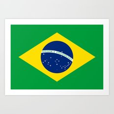 Brazilian National flag Authentic version (color & scale) Art Print