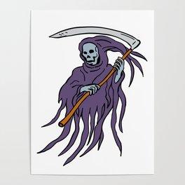 Grim Reaper Drawing Poster