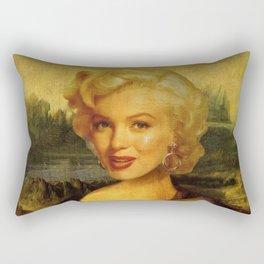 Mona Lisa & Marylin Rectangular Pillow