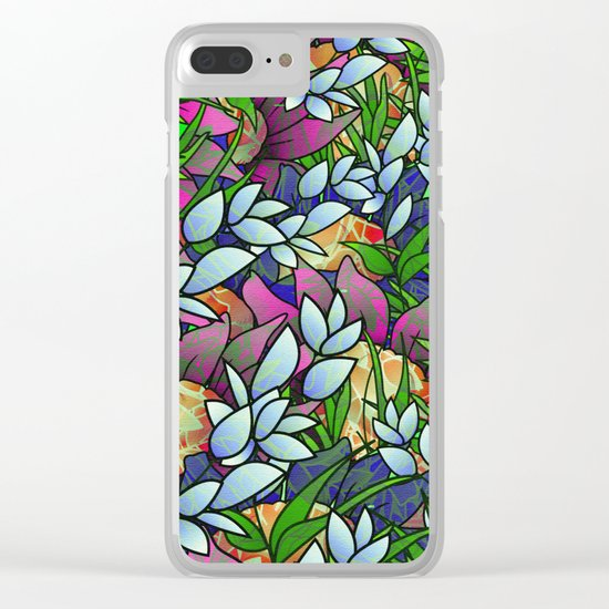 Floral Abstract Artwork G464 Clear iPhone Case