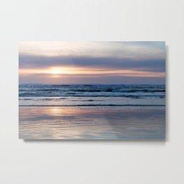 Beach Glow Metal Print