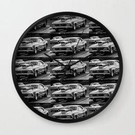 Black and White Chevy Camaro SS Wall Clock