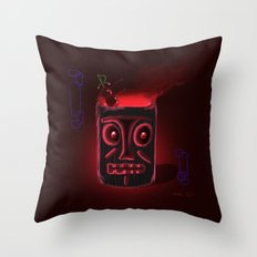 Tiki Black Throw Pillow