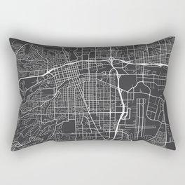 Reno Map, USA - Gray Rectangular Pillow