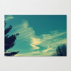 Happy Blue Sky Canvas Print