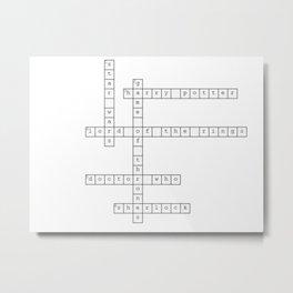 Fandom Crossword Metal Print