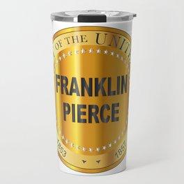 Franklin Pierce Gold Metal Stamp Travel Mug