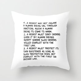 Three Laws Throw Pillow