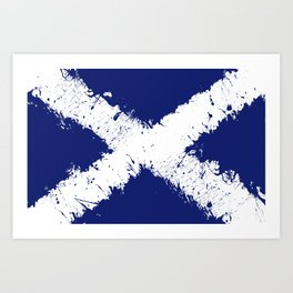 in to the sky, scotland Art Print