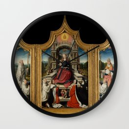 Jehan Bellegambe - The Le Cellier Altarpiece Wall Clock