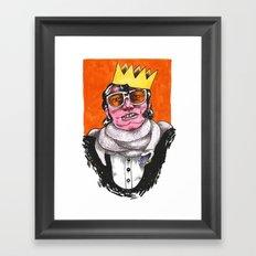 King Choker Framed Art Print