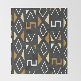 African Tribal Pattern No. 12 Throw Blanket