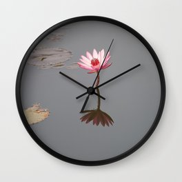 One Lotos Wall Clock