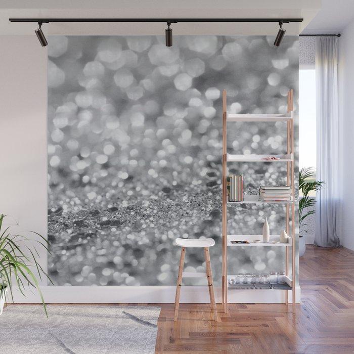 Silver Gray Lady Glitter #1 #shiny #decor #art #society6 Wall Mural
