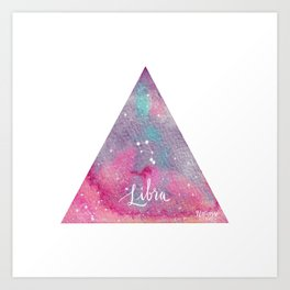 Libra - Astrology Mixed Media Art Print