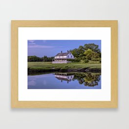 Essex river house reflection Framed Art Print