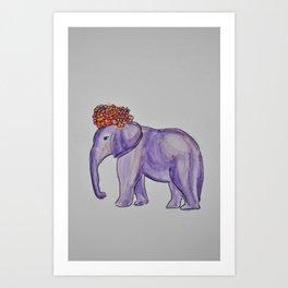 stylish elephant Art Print