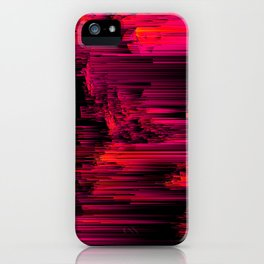 Burnout - Glitch Abstract Pixel Art iPhone Case