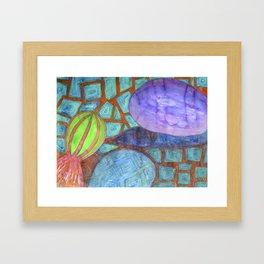 Still Life with Eggplant Framed Art Print