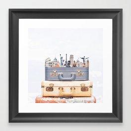 Travel Luggage Framed Art Print