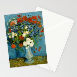 Vincent Van Gogh Vase With Cornflowers And Poppies Stationery Cards
