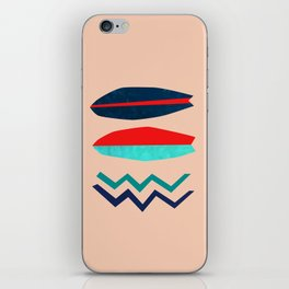Surfboard Abstract Art - Surf Lovers West Coast iPhone Skin
