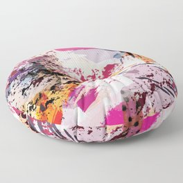 7: a vibrant abstract in jewel tones Floor Pillow