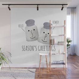 Season's Greetings Wall Mural