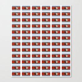 flag of Swaziland-Swaziland,Swazi, weSwatini,kaNgwane, Eswatini, Mswati, Swati Canvas Print