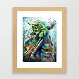 Yoda Painting Framed Art Print